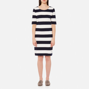 GANT Women's Barstripe Pique Dress - Evening Blue