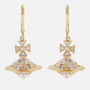 Vivienne Westwood Women's Bessie Orb Drop Earrings - White Cubic Zirkonia