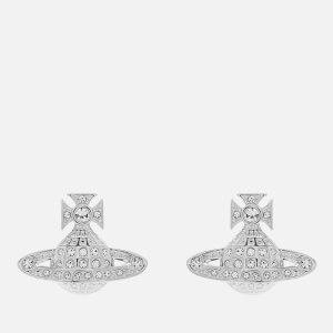 Vivienne Westwood Women's Minnie Bas Relief Earrings - White Crystal: Image 2