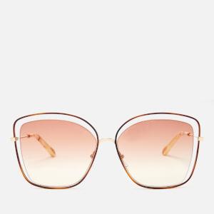 Chloe Women's Poppy Sunglasses - Havanna/Peach