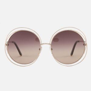 Chloe Women's Carlina Sunglasses - Rose Gold/Brown