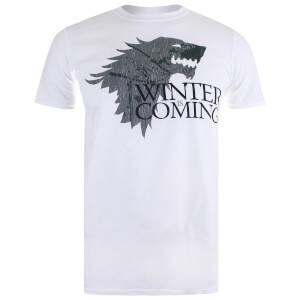 Game of Thrones Men's Winter is Coming T-Shirt - White