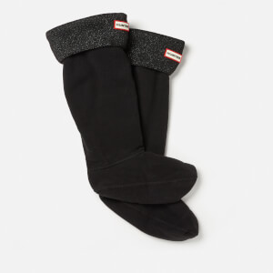 Hunter Original Tall Boot Socks with Glitter Cuff - Black