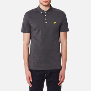 Lyle & Scott Men's Woven Collar Polo Shirt - Washed Grey