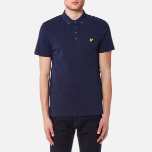 Lyle & Scott Men's Woven Collar Polo Shirt - Navy
