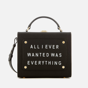 meli melo Women's Art Bag with Text - Black