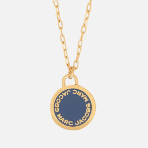 Marc Jacobs Women's Logo Disc Pendant - Vintage Blue