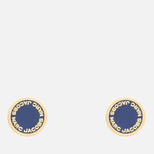 Marc Jacobs Women's Logo Disc Studs - Vintage Blue