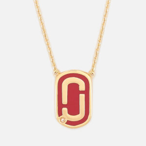 Marc Jacobs Women's Double J Enamel Pendant - Bright Cardinal