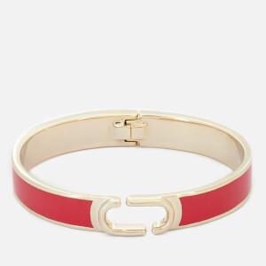 Marc Jacobs Women's Double J Enamel Hinge Cuff Bracelet - Bright Cardinal