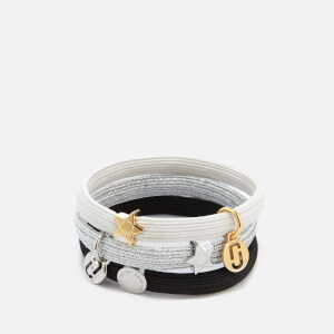Marc Jacobs Women's MJ Double Cut Out Pony Bracelet - Silver Multi