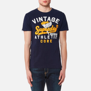 Superdry Men's Athletic Core 54 T-Shirt - Riviera Navy Slub
