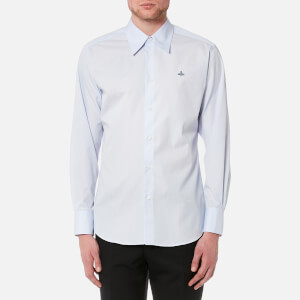 Vivienne Westwood MAN Men's Poplin Cutaway Long Sleeve Shirt - Light Blue