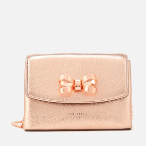 Ted Baker Women's Lupiin Metallic Looped Bow Mini Cross Body Bag - Bronze