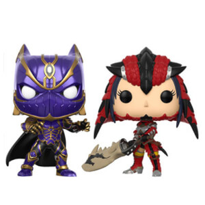 Figurines Pop! Black Panther vs Monster Hunter Marvel Vs Capcom (Lot de 2)