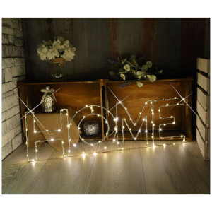 Lyyt Large LED Wire Frame Home Metal Motif - Warm White