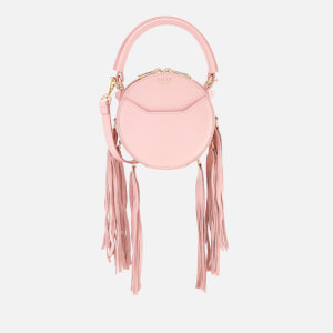 SALAR Women's Lea Fringe Cross Body Bag - Pink