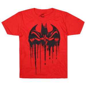 DC Comics Boys' Bat Mask T-Shirt - Red