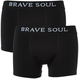 Brave Soul Men's Joshua 2-Pack Boxers - Black