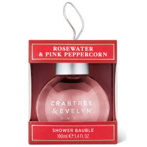 Crabtree & Evelyn Rosewater and Pink Peppercorn Shower Gel Bauble 100ml (Free Gift)
