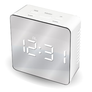 Mayhem WhiteIce Mirrored Clock - Grey/White