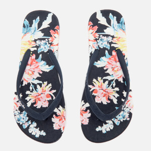 Joules Women's Flip Flops - Navy Whitstable Floral