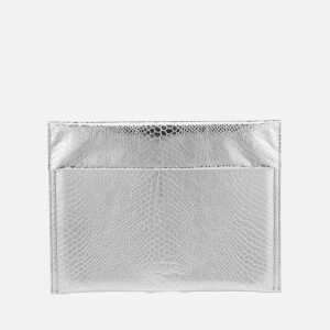 MM6 Maison Margiela Women's Snake Lame Clutch Bag - Silver