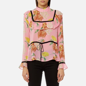 Ganni Women's Marceau Georgette Shirt - Sea Pink