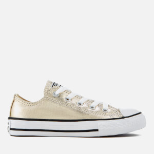 Converse Kids' Chuck Taylor All Star Ox Trainers - Light Gold/White/Black