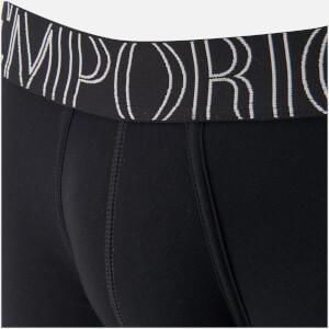 Emporio Armani Men's Stretch Cotton Boxer Shorts - Nero: Image 3