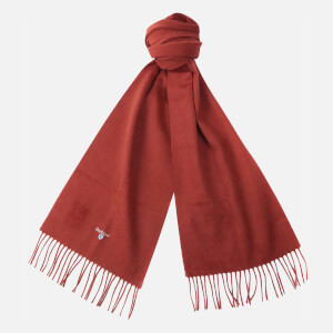 Barbour Plain Lambswool Scarf - Rust