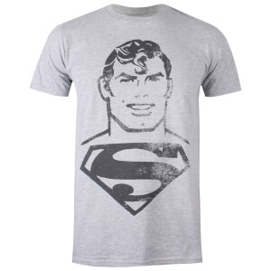 T-Shirt Homme Superman Vintage DC Comics - Gris Clair