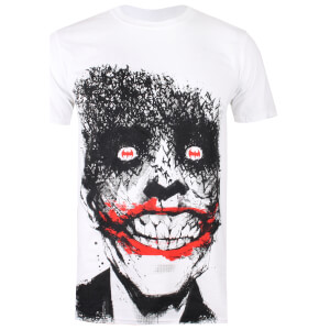 T-Shirt Homme Batman Yeux du Joker DC Comics - Blanc