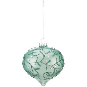 Bark & Blossom Matt Teal Bauble