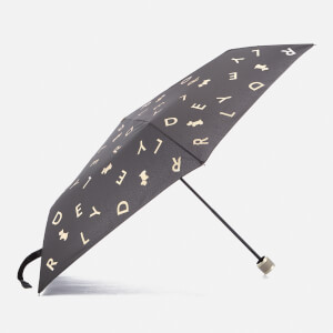 Radley Women's All That Glitters Mini Telescopic Umbrella - Black
