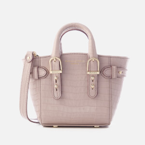 Aspinal of London Women's Marylebone Micro Tote Bag - Lilac
