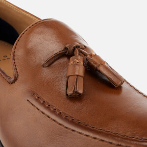 Hudson London Men's Dickson Leather Tassel Loafers - Tan: Image 6