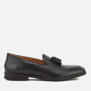 Hudson London Men's Dickson Leather Tassel Loafers - Black