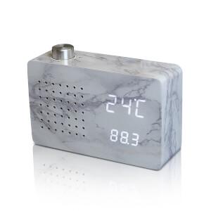 Gingko Radio Click Clock - Marble