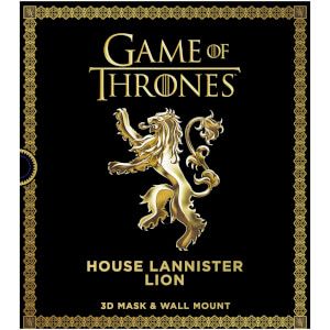 Game of Thrones – Masque de lion en 3D – Maison Lannister