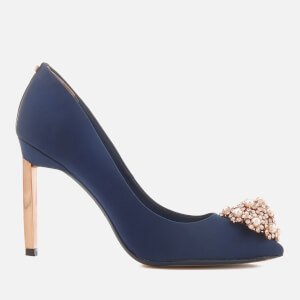 Ted Baker Women's Peetch 2 Court Shoes - Navy Satin