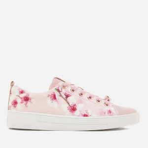 Ted Baker Women's Ahfira Cupsole Trainers - Blossom Print Pink