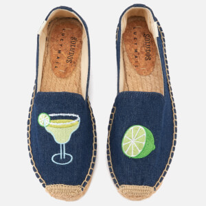 Soludos Women's Margarita Platform Smoking Slippers - Dark Denim