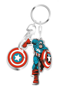 Marvel Captain America - Keyring Trolley Coin
