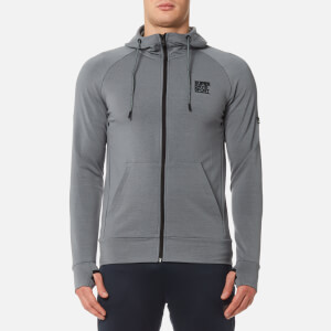 Superdry Sport Men's Gym Training Zip Hoody - Light Grey