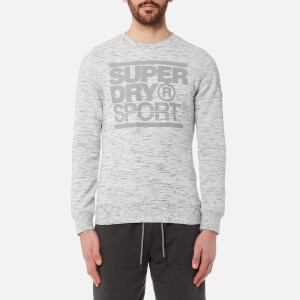 Superdry Sport Men's Gym Tech Crew Neck Sweatshirt - Ice Space Dye/Concrete Marl