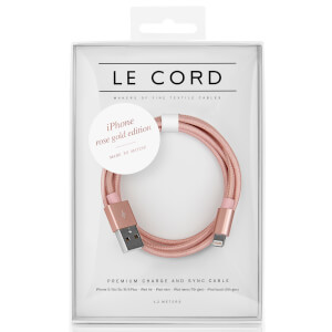 Le Cord Rose Gold Lightning Cable (2m)