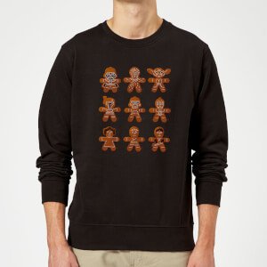 Star Wars Gingerbread Characters Black Christmas Sweatshirt