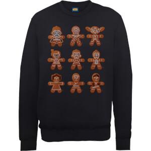 Star Wars Gingerbread Figuren Weihnachtspullover - Schwarz