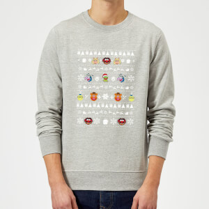 Disney The Muppets Muppets Christmas Heads Grey Christmas Sweatshirt